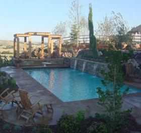 Luxury pools and patio for Pool design boise